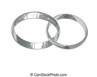 プラチナ, リング, 2, ∥あるいは∥, 結婚式, 銀