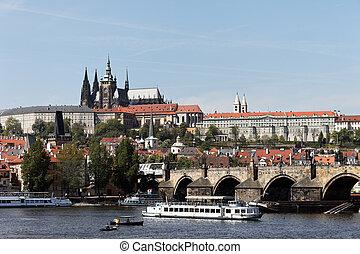 プラハ, チャールズ 橋, そして, プラハ城, hradcany