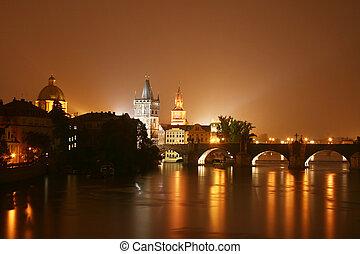 プラハ, 夜
