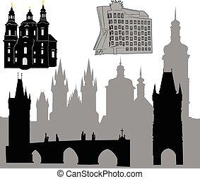 プラハ, silhouette-6