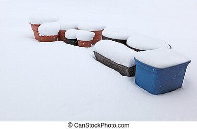 プランター, 雪