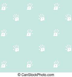 プリント, 手, seamless, パターン, 子供