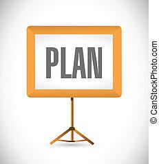 プレゼンテーション, デザイン, 計画, イラスト, 板