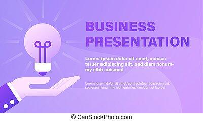 プレゼンテーション, ビジネス, 背景