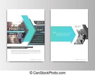 プレゼンテーション, フライヤ, カバー, レポート, デザイン, annnual, brochure.