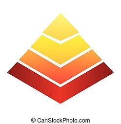 プレゼンテーション, infographic, piramid, アイコン