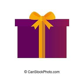 プレゼント, そして, クリスマス, 優雅さ, ベクトル, イラスト