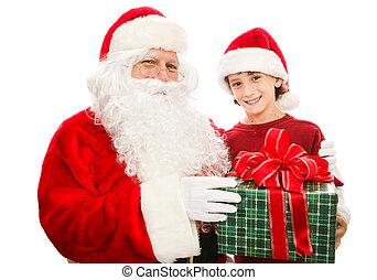 プレゼント, クリスマス, santa