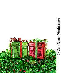 プレゼント, ボーダー, クリスマス