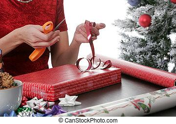 プレゼント, 休日, 包むこと