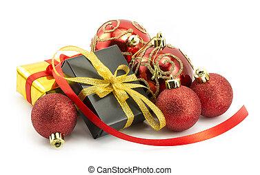 プレゼント, 包まれた, お辞儀をする, リボン