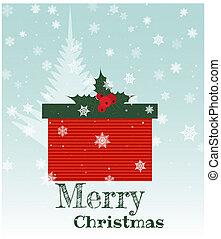 プレゼント, 箱, クリスマス