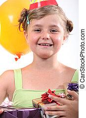 プレゼント, 肖像画, 女の子
