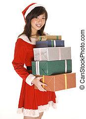 プレゼント, 2, お嬢さん, santa