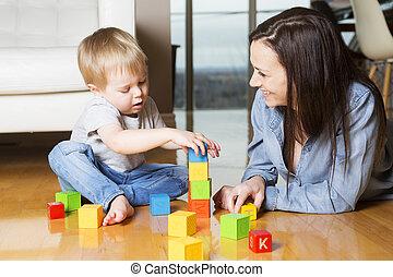 プレーしなさい, ブロック, 母