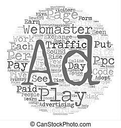 プレーしなさい, 概念, 単語, 給料, 仕事, につき, 意志, ppp, 背景, テキスト, 雲