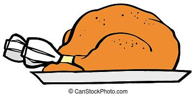 プレート, ∥で∥, 焼かれた, turkey.