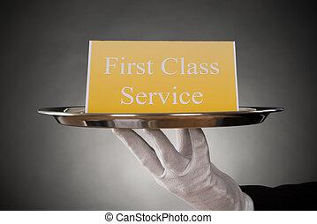 プレート, サービス, テキスト, 板, クラス, 最初に