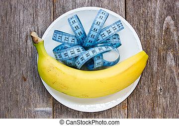 プレート, テープ, バナナ, 測定