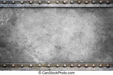 プレート, ボルト, 背景, 灰色