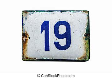 プレート, 外気に当って変化した, 数, エナメルをかぶせられた, 19