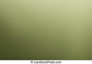 プレート, 抽象的, 金属, 緑の背景, 光沢がある, 手ざわり