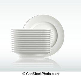 プレート, 磁器製品, 白い背景