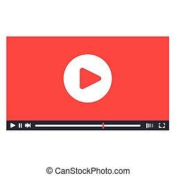 プレーヤー, インターフェイス, デザイン, ビデオ