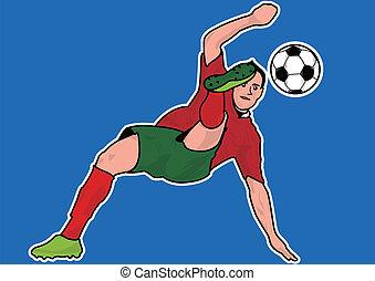 プレーヤー, サッカー, シルエット