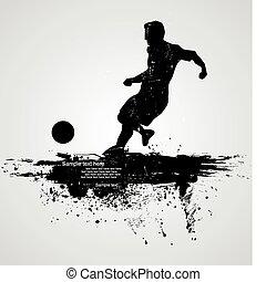 プレーヤー, サッカー, ベクトル