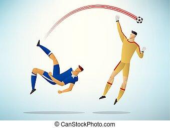 プレーヤー, サッカー, 09, イラスト