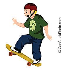 プレーヤー, スケートボード