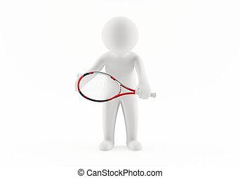 プレーヤー, テニス, 3d