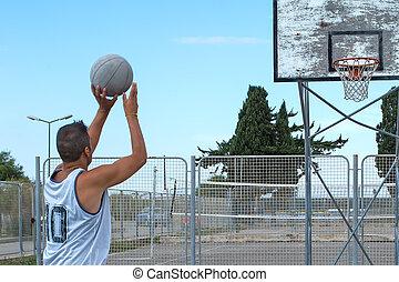 プレーヤー, バスケットボール, ぐっと近づいて