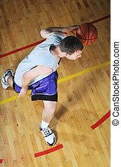 プレーヤー, バスケット, ホール, ボールスポーツ, ゲーム