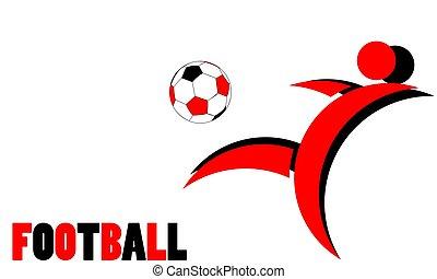 プレーヤー, フットボール, ロゴ