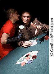 プレーヤー, ポーカー, 幸運