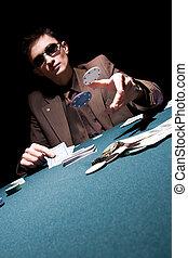 プレーヤー, ポーカー, 若い