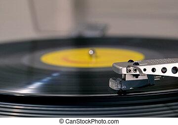 プレーヤー, レコード, サイド光景