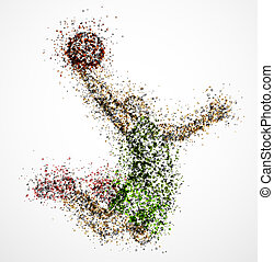 プレーヤー, 抽象的, バスケットボール