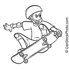 プレーヤー, 板, スケート