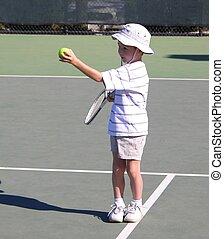 プレーヤー, 男の子, 2, テニス