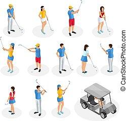プレーヤー, 等大, ゴルフ, コレクション