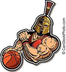 プレーヤー, spartan, バスケットボール