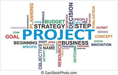 プロジェクト, 単語, -, 雲