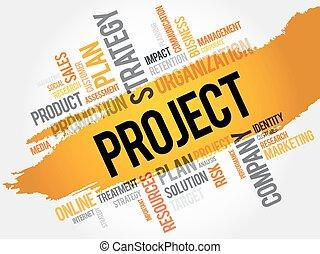 プロジェクト, 単語, 雲