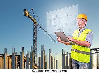 プロジェクト, 建築家, 表示, 家