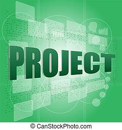 プロジェクト, pixeled, スクリーン, 単語, デジタル