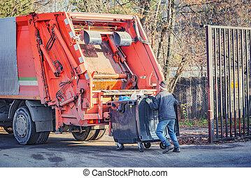 プロセス, ごみ, ローディング, truck.
