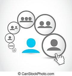 プロセス, コミュニケーション, 社会, 人々